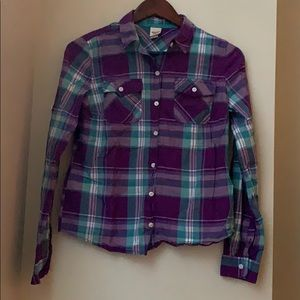 Mossimo Flannel Long Sleeve Top Size Small